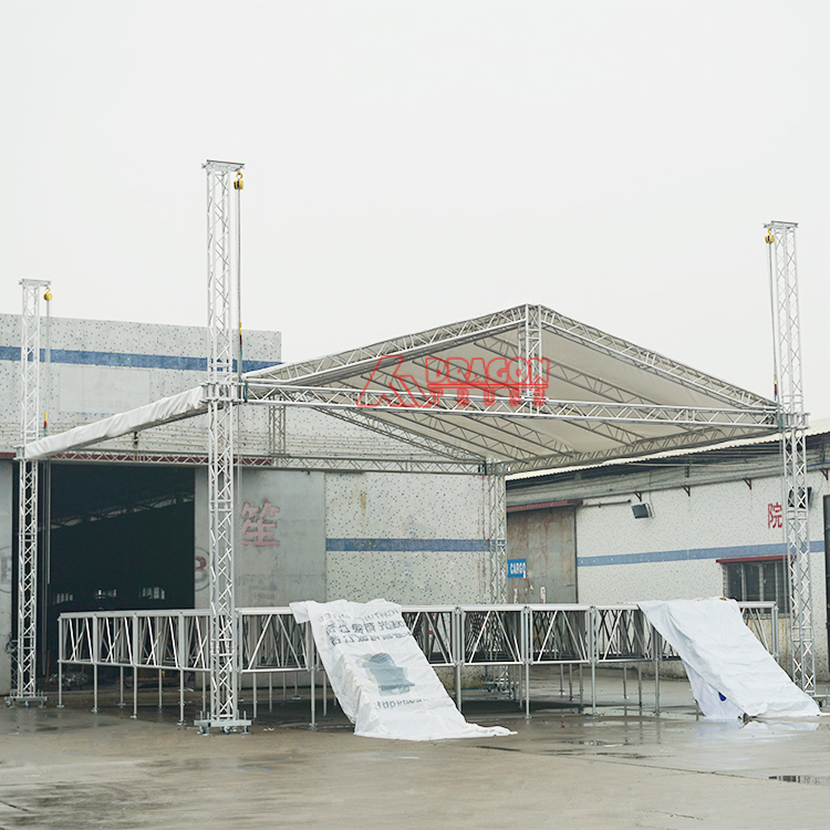 Flat Roof Truss with Concert Stage