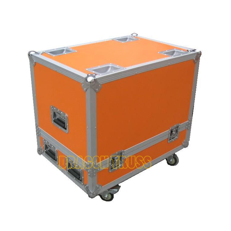 Professional rack flight case with wheels