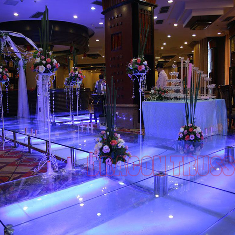 Crystal Stage for Concert, Glass Stage ,Round Stage for Wedding