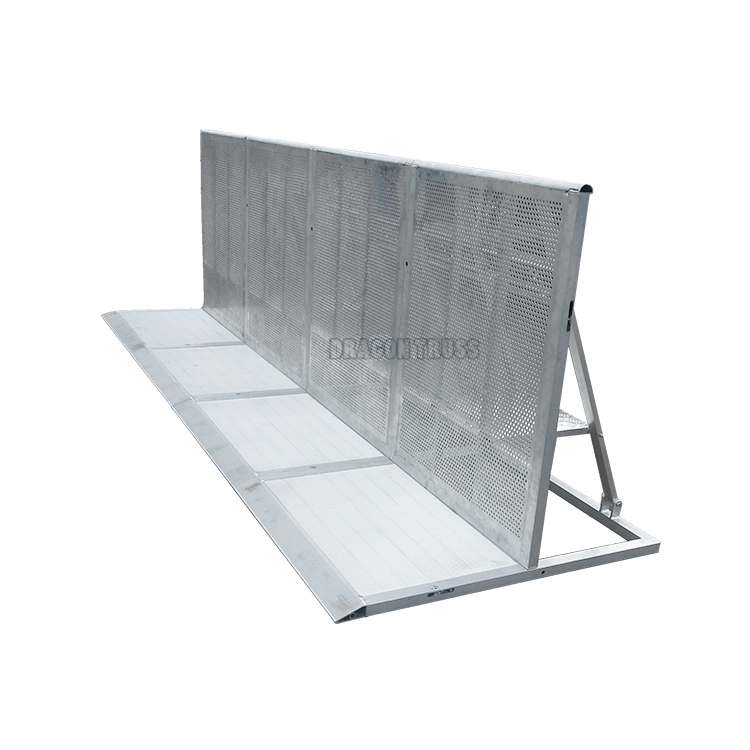 Easy to install safety aluminum crowed barricade for performance