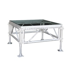 Aluminum mobile stage and acrylic glass stage platform