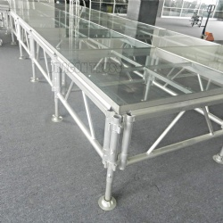Promotional price top grade assemble glass stage