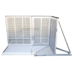 Outdoor Safety Aluminum Crowd Control Barrier